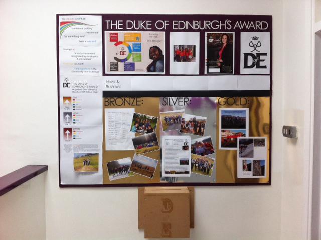 DofE notice board